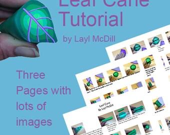 Leaf Polymer Clay Cane- PDF tutorial