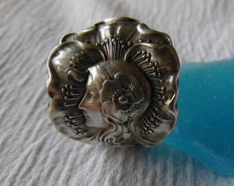 Dawn by Unger  Antique Sterling Silver Spoon Ring size 7