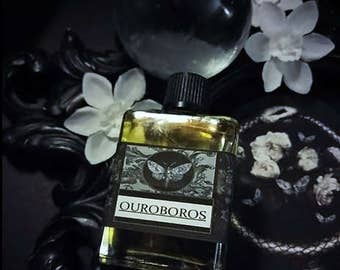 Ouroboros Gypsy Alchemy Natural Perfume Oil  1/2 oz Thyme,Lavender,Peach,Creosote,Osmanthus,Narcisuss,Orange,Cedarwood,Orris,Labdanum,