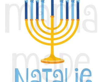 Girl's Hanukkah Shirt or Bodysuit Girl's Hanukkah Menorah Shirt or Bodysuit Girls Personalized Hanukkah Shirt,Girl's Chanukkah Shirt