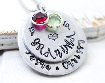 Grandma Necklace, Nana Necklace, Birthstone Necklace for Nana, Grandma Jewelry, Custom Necklace for Grandma, Grandmother Necklace, Nana Gift