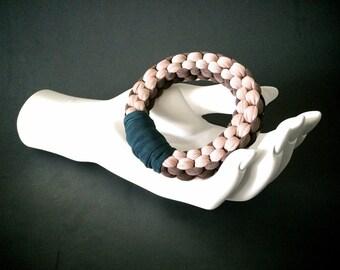 summer sale | braided jersey bracelet | stretch bangle cuff | woven fabric bracelet | colorful fabric bracelet | t-shirt jewelry