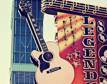 Nashville art, city signs, city art, country music wall art, apartment art, Nashville wall art, wall art photo, country music decor