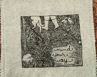 Mind Your Way handprinted patch