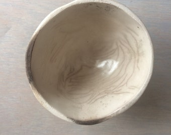 "smoked earthenware bowl: 5"" diameter"