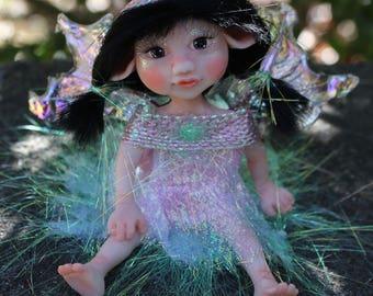 OOAK Fairy Doll, Fairy Gift, Fairy Doll, Garden Fairy, Pixie, Faerie Doll, Clay Figurine