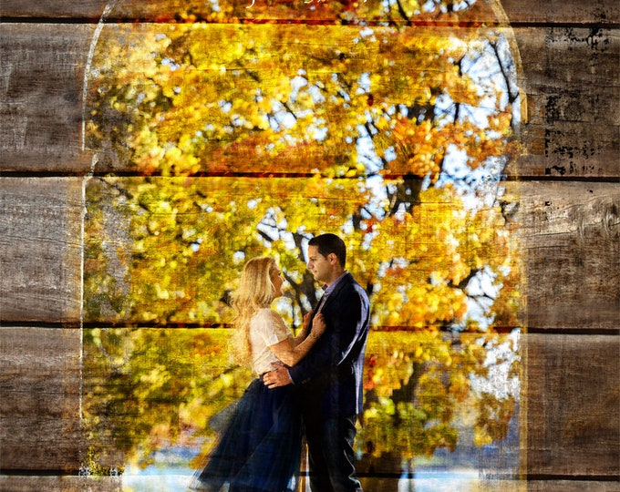 REAL WOOD Beach Wedding Custom Wood Anniversary Gift Wedding Decoration or Wedding Anniversary Gift 20x24