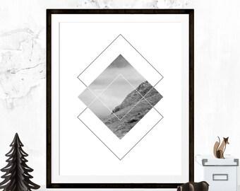 Landscape Photography, Black and White Photography, Newfoundland, Graphic Design, Home Decor, Geometric Art, Minimalist Art, Printable Art