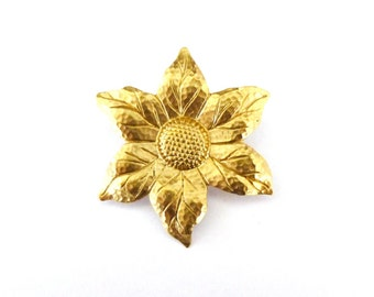 Rustic Boutonniere Sunflower Brooch Gold Sun Flower Lapel Pin Mens Groomsmen Boho Bohemian Wedding Accessories Womens Gift For Her Spring