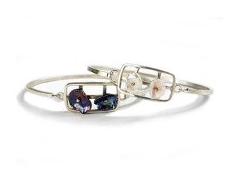 Keshi Pearls in Motion Sterling Bracelet