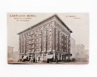 1920's  San Francisco Postcard, Gartland Hotel