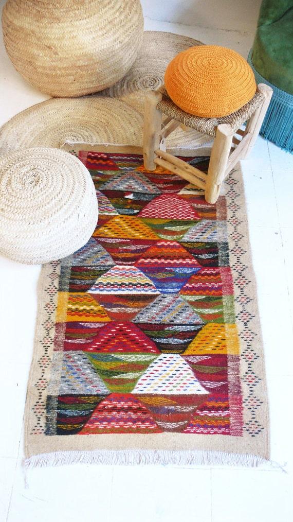 Zanafi bereber marroqu peque as alfombras alfombra de lana - Alfombras pequenas ...