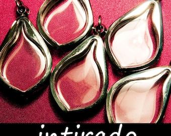 Tear Drop Pendant Blanks, Intirado, Marimo, Terrarium Findings, Diorama, Amulet Case, Watch Locket, Reliquary, Art Craft Supplies, Leaf