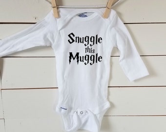 Snuggle This Muggle Onesie. Harry Potter Baby Onesie. FREE SHIPPING! Trendy Baby Girl Boy Bodysuit. Muggle Life. Hogwarts Baby. Kids Clothes