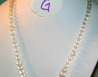 Vintge Rondelle Crystal Necklace   #G