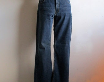 Vintage 1980s Jeans Santana 5 Pocket Boot Cut Blue Denim Jeans 27W