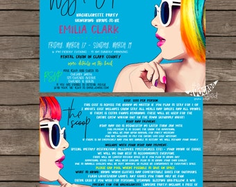 Super FUN Wiggin' Out Bachelorette (or any event) Party Invitation - DIY Printing OR Professional Prints