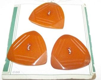 Vintage Buttons ~ Bakelite Buttons ~ Butterscotch Bakelite Button Set~ Modified Triangle