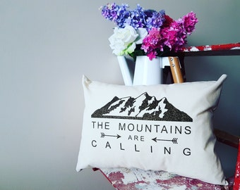 Mountains Are Callling Slipcover, Cottage Home Decor