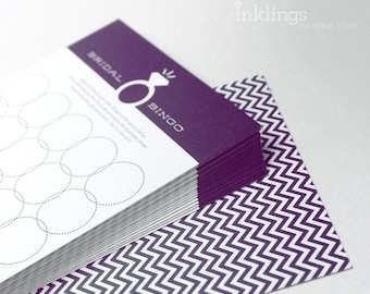 12 Bridal Bingo Cards  //  Bridal Shower Game, Party Game, Bridal Shower Activity, Bachelorette Party Game // Rich Purple