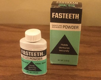 Vintage Fasteeth Denture Powder NOS