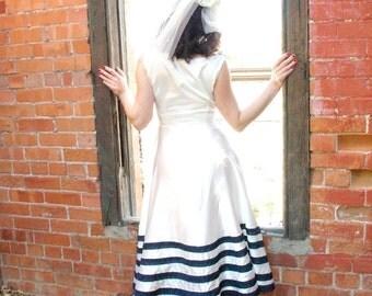 White Satin Swing Dress