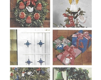 Simplicity 6067 70s Transfer Pattern for Christmas Ornaments Tree Skirt and Angel