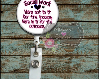 Social worker... Retractable Badge holder