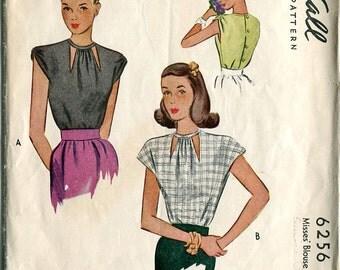 McCall's 6256 Blouse Shirt Top Sewing Pattern B30