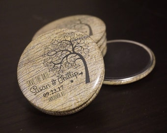 Rustic Wedding - Save the Dates - Wedding Gift Save the Date Magnet - Wedding Announcement - Custom Button Magnets 10 pcs