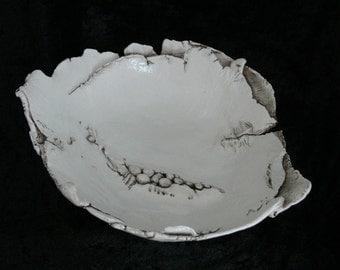 Hand Built Distressed Ceramic Bowl