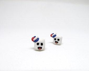 Ghostbusters Stay Puft Earrings