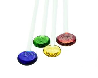 Rainbow Glass Stir Sticks