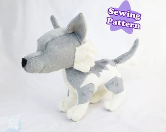Wolf Plushie Sewing Pattern Instant Download PDF Pattern Wolf Plush Tutorial