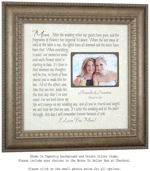 Wedding Picture Frame Mother Of The Bride Gift Parents Thank