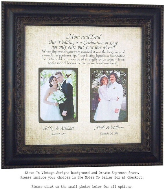 Wedding Gift For Mother: Parents Wedding Gift Wedding Frame For Mother Father Of The