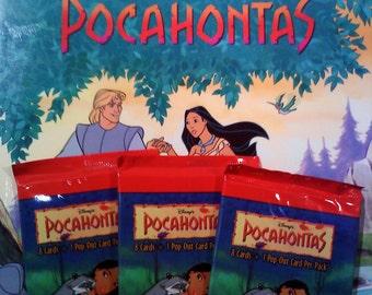 Disney Pocahontas Book and Trading Cards