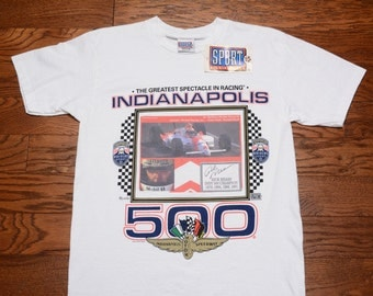 vintage 90s Rick Mears t-shirt Indy 500 IMS Indy Car 1992 Penske Chevy 1994 Sport Attack open wheen racing shirt M medium