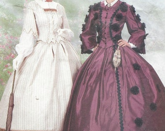 Womens Civil War Tops & Skirts Re-Enactors Costumes Butterick Sewing Pattern 6694 Size 12 14 16 Bust 34 36 38 UnCut Making History Patterns
