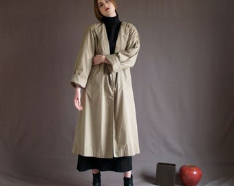 Beige Minimal Trench Coat