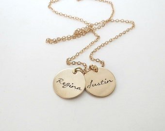 Personalized Gold Necklace - Custom Name Necklace - Mothers - Kids Names - Grandma - Nana - Friends - Mom - Engrave - Personalized Jewelry
