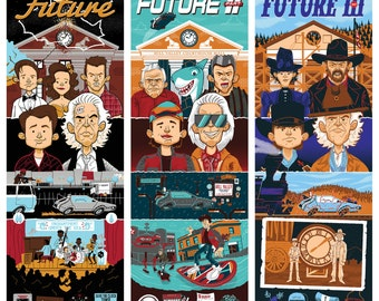 Back to the Future Trilogy Screen Print Set