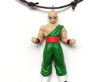 Tenshinhan - found figure upcycled necklace