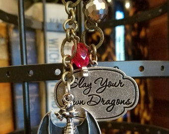 Slay Your Own Dragons Roach Clip Shiny Beads Game of Thrones