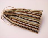 Striped Tarot Bag with Cream Trim