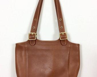 British Tan Coach Bag - Medium Brown Legacy Shoulder Bag - 9086