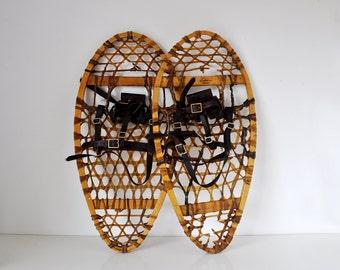 Vintage Bearpaw Snowshoes Northwoods Canada