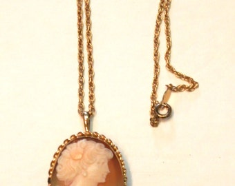 Mid 20th Century Gold Filled Cameo Pin/Pendant
