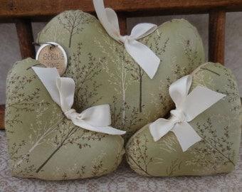 Primitive Heart Set Bowl Filler Tucks Spring/Summer Trees Hearts Home Decor