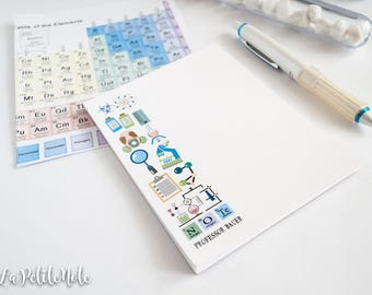Personalized Notepad/ Chemistry Lab Notepad/ Science Notepad/Chemistry Notepad